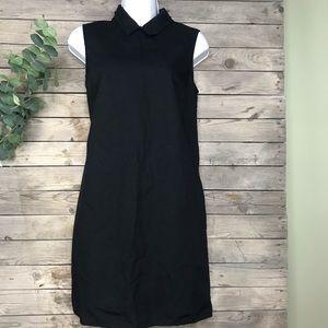 Gap | black collared shift dress size petite xs